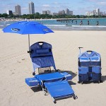Beach Lounger Pack Chair with Speakers and Digital Amplifier
