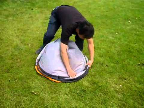 How To Fold a Beach Tent in 2 Seconds Flat!